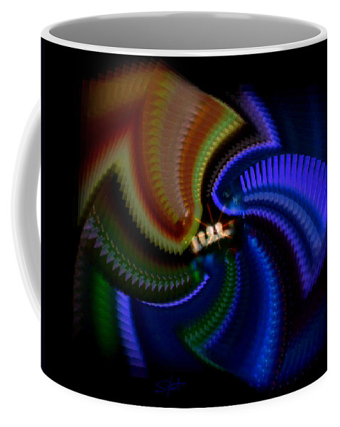 Chaos Coffee Mug featuring the painting Rainbow by Charles Stuart