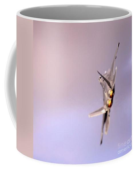 F-22 Coffee Mug featuring the photograph Raptor by Angel Ciesniarska