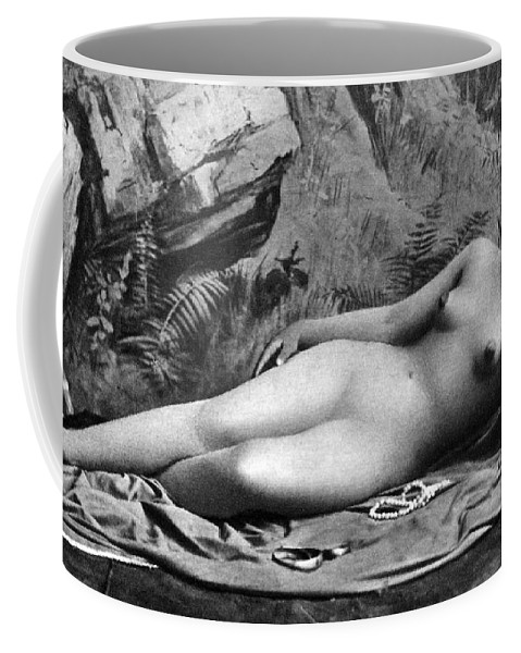 1885 Coffee Mug featuring the photograph Reclining Nude, C1885 by Granger
