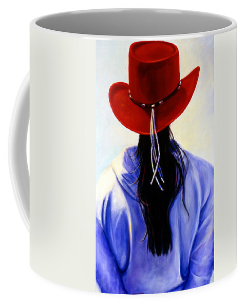 Red Coffee Mug featuring the painting Red Ahead by Shannon Grissom