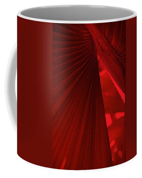 Palm Trees Coffee Mug featuring the photograph Red As Blood by Susanne Van Hulst