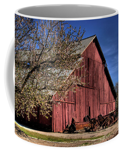 Barn Coffee Mug featuring the photograph Red Barn by Jim And Emily Bush