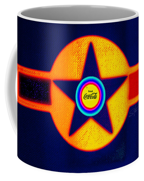 Usaaf Coffee Mug featuring the painting Red by Charles Stuart