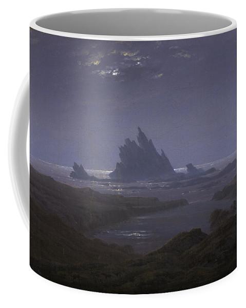 Caspar David Friedrich Coffee Mug featuring the painting Reefs By The Seashore by Caspar David Friedrich