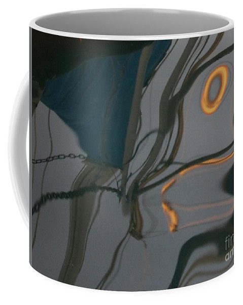 Reflection Coffee Mug featuring the photograph reflection in Eilat marina by Nili Tochner