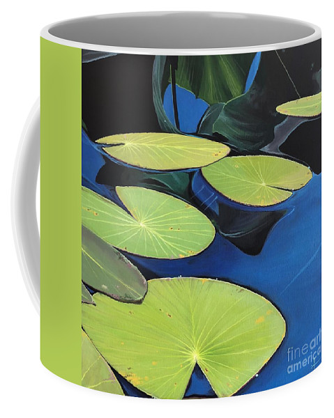 Aquatic Coffee Mug featuring the painting Reflections by Hunter Jay