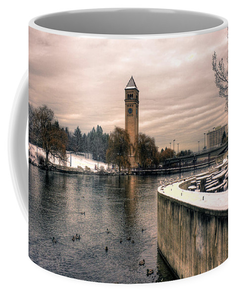 River Front Park Coffee Mug featuring the photograph River Front Park Spokane by Lee Santa