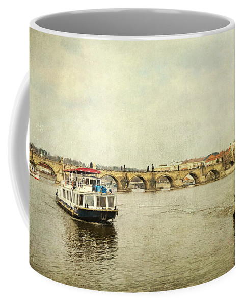 City Coffee Mug featuring the photograph River Vltava by Svetlana Sewell