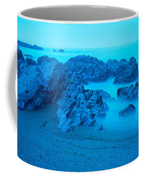 Photography Coffee Mug featuring the photograph Rock Formations On The Coast, Central by Panoramic Images