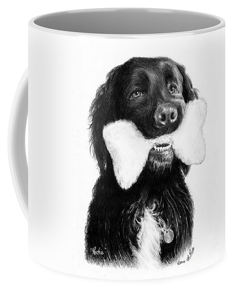 Rockie Coffee Mug featuring the drawing Rockie 1 by Andrew Read