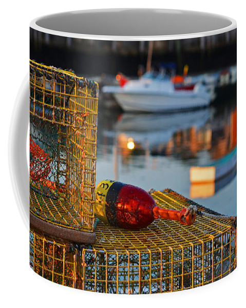 Rockport Coffee Mug featuring the photograph Rockport Ma Lobster Traps by Toby McGuire