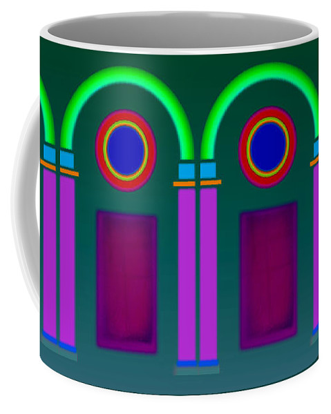 Classical Coffee Mug featuring the painting Roman Architecture by Charles Stuart