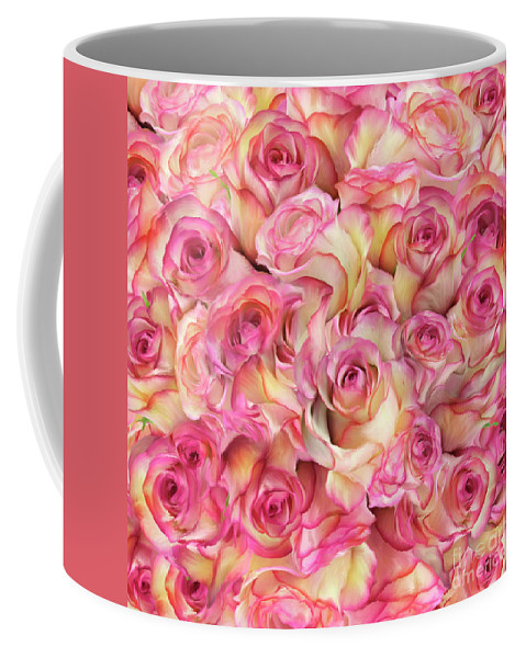 Flower Coffee Mug featuring the photograph Roses Background by Svetlana Foote