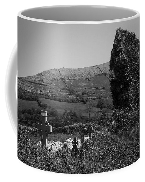 Irish Coffee Mug featuring the photograph Ruins In The Burren County Clare Ireland by Teresa Mucha