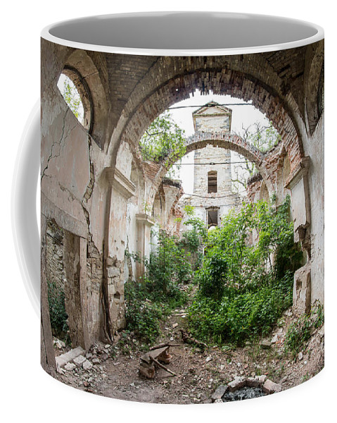 Ruins Coffee Mug featuring the photograph Ruins Of The Church Of St Wenceslas by Michal Boubin