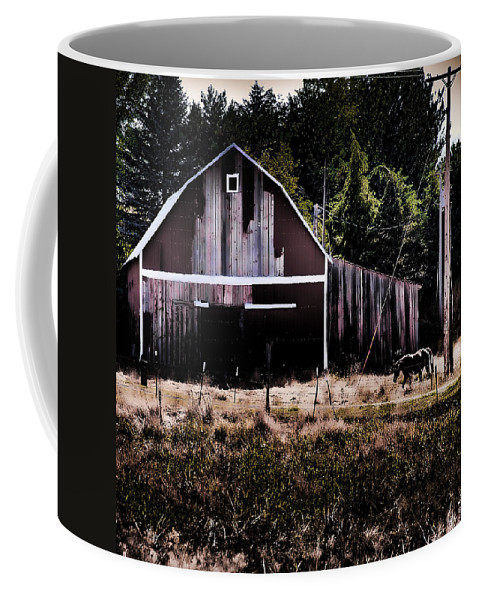 Barn Coffee Mug featuring the photograph Rustic Barn by David Patterson