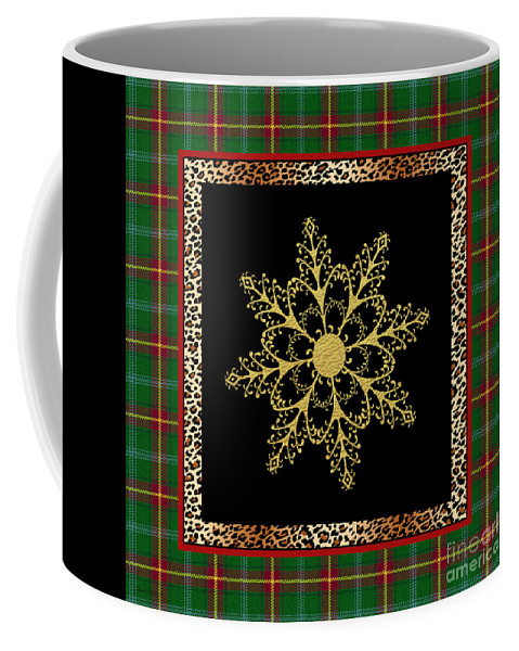 Jean Plout Coffee Mug featuring the painting Rustic Snowflake-jp3695 by Jean Plout