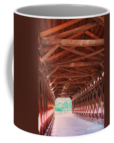 Gettysburg Coffee Mug featuring the painting Sachs Bridge by Eric Schiabor