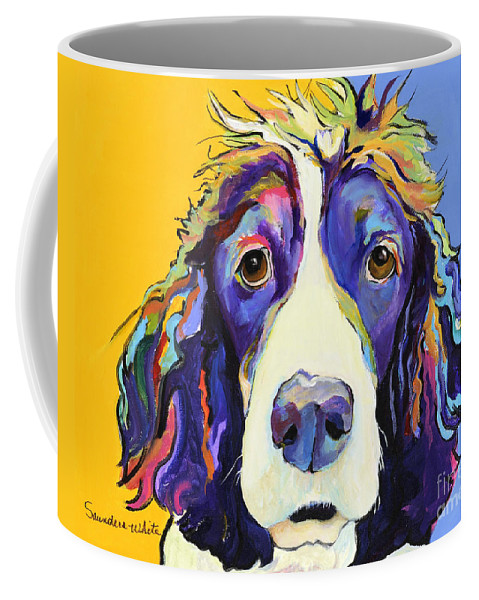 Blue Coffee Mug featuring the painting Sadie by Pat Saunders-White