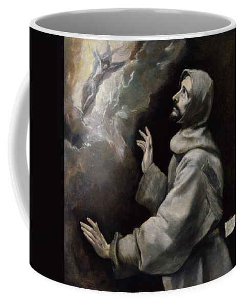 Assisi Coffee Mug featuring the painting Saint Francis Receiving The Stigmata by El Greco