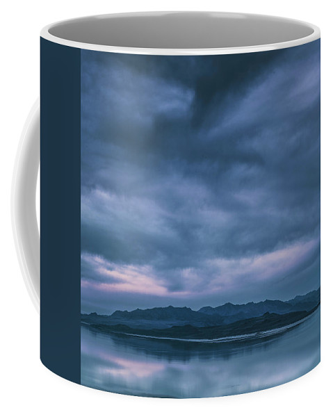 Utah Coffee Mug featuring the photograph Salt Lake Blues by Robert Fawcett