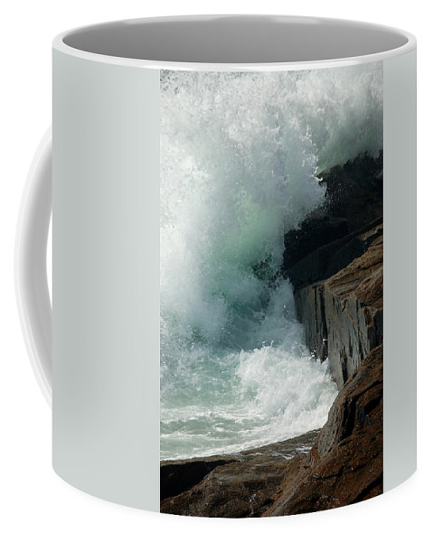 Lawrence Coffee Mug featuring the photograph Salty Froth by Lawrence Boothby