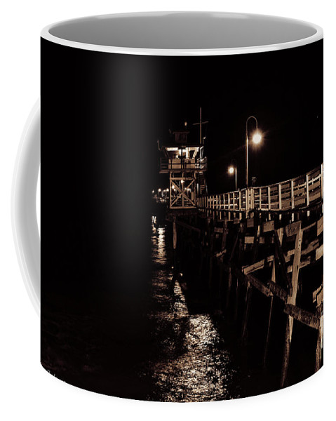 Warf Coffee Mug featuring the photograph San Clemente Pier by Tommy Anderson