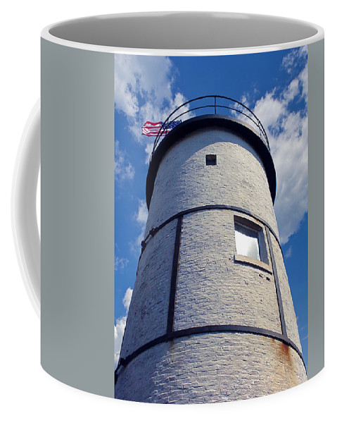 4th Of July Coffee Mug featuring the photograph Sandy Neck Lighthouse by Charles Harden