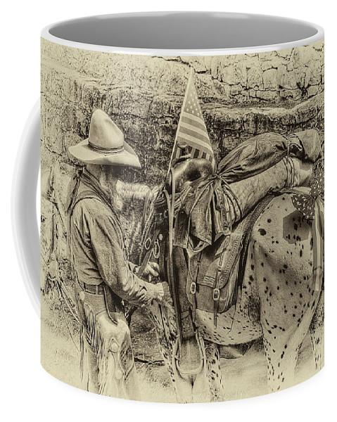 Cowboy Coffee Mug featuring the photograph Santa Fe Cowboy by David Patterson