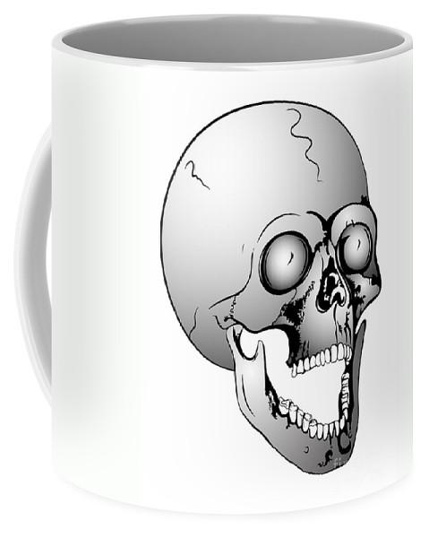 Scull Coffee Mug featuring the digital art Screaming Skull by Michal Boubin