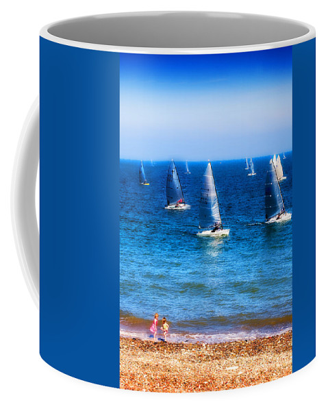 Sea Coffee Mug featuring the photograph Seaside Fun by Mal Bray