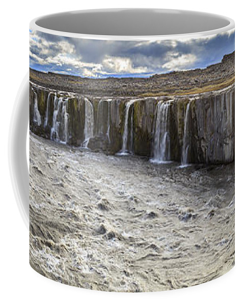 Europe Coffee Mug featuring the photograph Selfoss Waterfall by Alexey Stiop