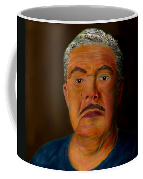 Selfportrait Coffee Mug featuring the painting Selfportrait by Helmut Rottler