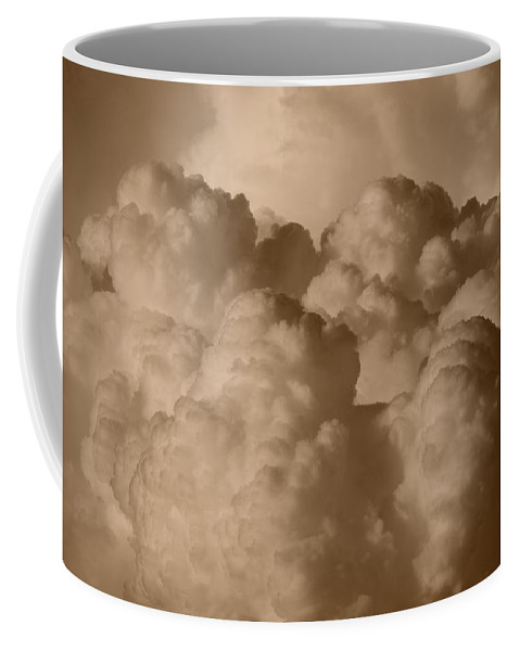 Sepia Coffee Mug featuring the photograph Sepia Clouds by Rob Hans