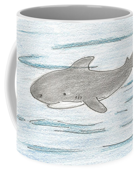 Shark Coffee Mug featuring the drawing Shark by Gabriel Coelho