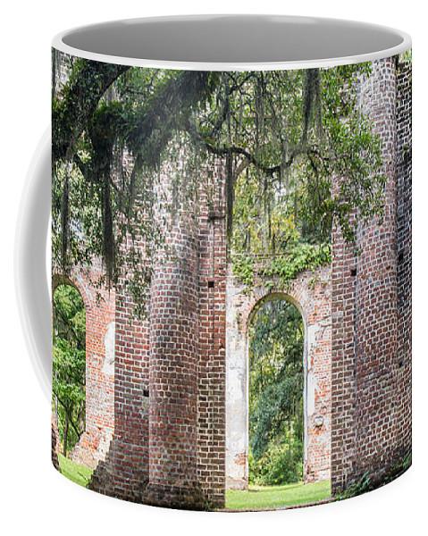 Old Sheldon Church Coffee Mug featuring the photograph Sheldon Church Ruins by Dawna Moore Photography