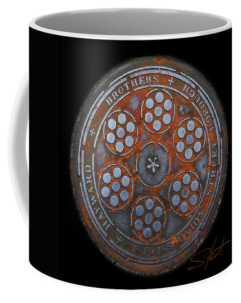 Manhole Coffee Mug featuring the photograph Shield by Charles Stuart