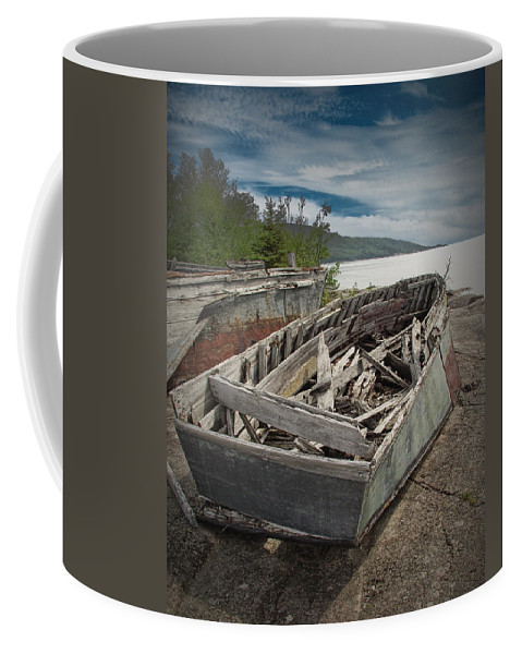 Art Coffee Mug featuring the photograph Shipwreck At Neys Provincial Park by Randall Nyhof