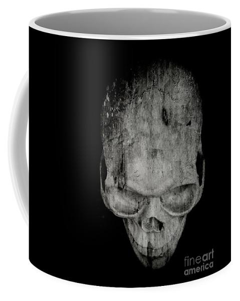 Halloween Coffee Mug featuring the photograph Skull by Edward Fielding