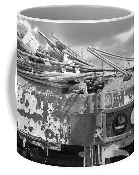 Black And White Coffee Mug featuring the photograph Sky Lights by Rob Hans
