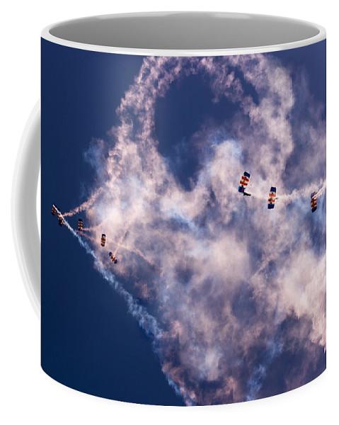Raf Falcons Coffee Mug featuring the photograph Sky Surfing by Angel Tarantella