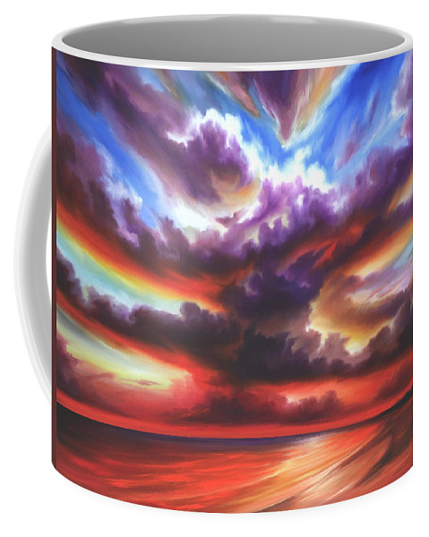 Sunrise Coffee Mug featuring the painting Skyburst by James Christopher Hill