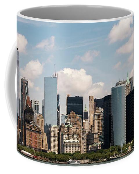 Skyscrapers Coffee Mug featuring the photograph Skyline Of New York City - Lower Manhattan by David Oppenheimer