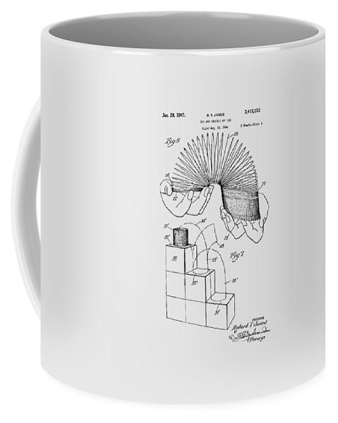 Slinky Coffee Mug featuring the photograph Slinky Patent 1947 by Chris Smith