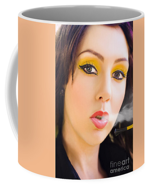 Caucasian Coffee Mug featuring the photograph Smoking by Jorgo Photography - Wall Art Gallery