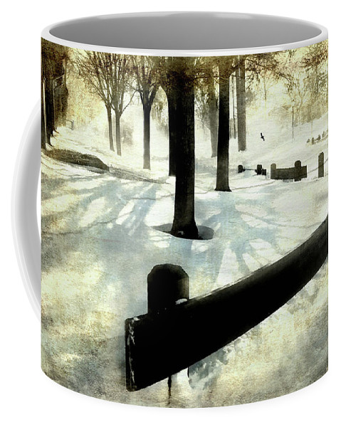 Winter Landscape Coffee Mug featuring the photograph Snow Bird by Diana Angstadt
