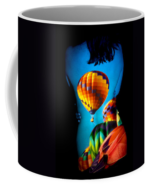 Hot Air Balloon Coffee Mug featuring the photograph Soarin Beauty by Greg Fortier