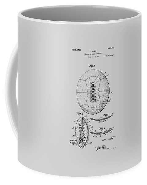 Soccer Coffee Mug featuring the photograph Soccer Ball Patent 1928 by Chris Smith