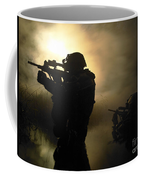 Special Operations Forces Coffee Mug featuring the photograph Special Operation Forces Combat Divers by Tom Weber