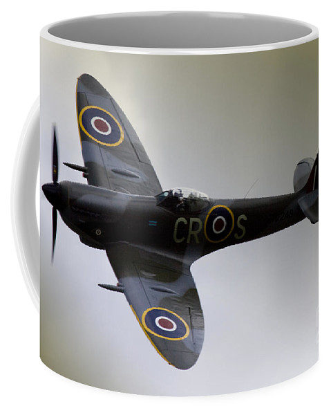 Aircraft Coffee Mug featuring the photograph Spitfire by Angel Ciesniarska